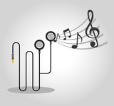 music player device electronic vector illustration design