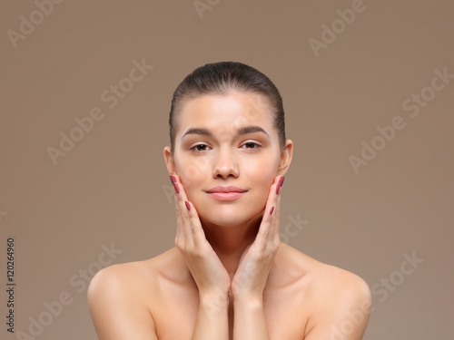 Portrait of a beautiful woman. Spa treatments.