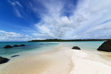 """Beautiful scene of beach with cloud and blue sky in Koh Mak, Trad, Thailand. 120280550,Letter B logo icon design template elements"""""""
