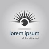 Fototapety logo eye with eyelashes vector