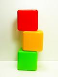 Colorful traffic light