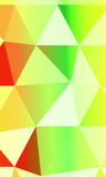 green, yellow polygonal geometric banner with rumpled triangular low poly origami style background.