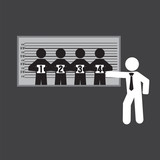 Suspect Identification Room Vector Illustration