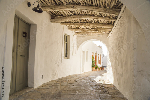 road alley in Patmos island Greece