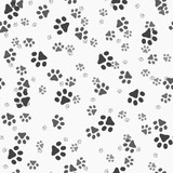 Fototapety Animal paws. Random sized footprints. Seamless pattern. Vector illustration