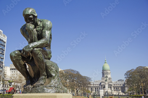 Poster Buenos Aires The Thinker by Rodin