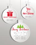 set of white Christmas balls