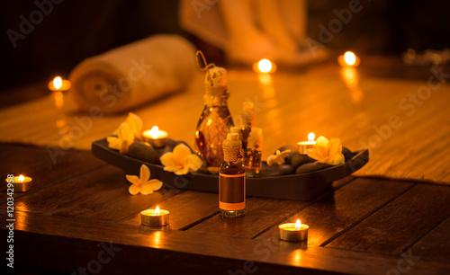 Leinwanddruck Bild Decoration for relax massage