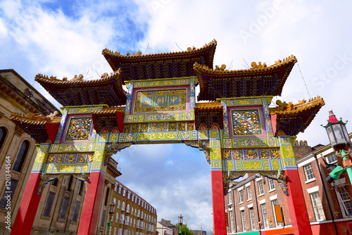 Poster Famous Chinatown gate in Liverpool
