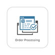 Order Processing Icon. Flat Design.