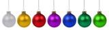 Weihnachtskugeln Weihnachten Advent bunte Kugeln in einer Reihe - 120402740