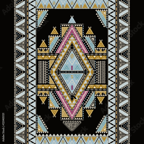 Ethnic geometrical pattern, tribal seamless, aztec design,  mexican decoration print - 120405131
