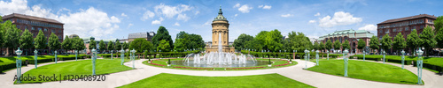 Mannheim Wasserturm und Rosengarten Panorama