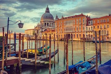 Venice, Canal Grande, Vintage Stylized