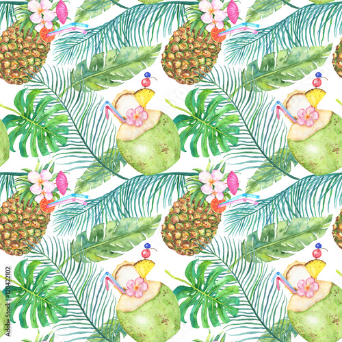 Materiał do szycia Bright tropical seamless pattern