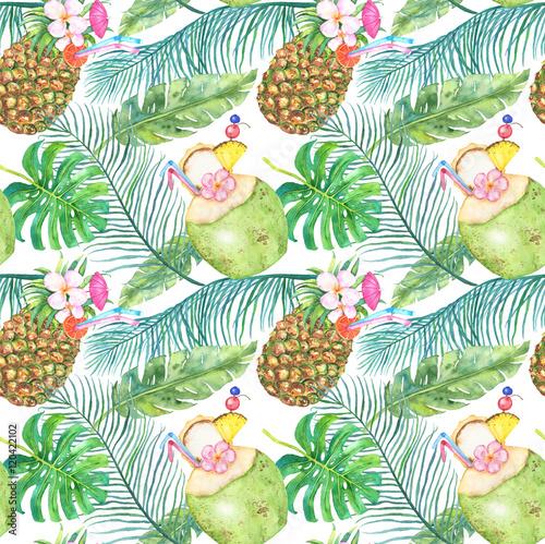 Stoffe zum Nähen Hellen tropischen nahtlose Muster