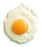 fried egg on white background - 120422978