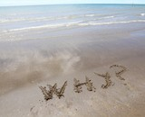 why written on the beach