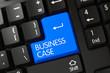 Business Case - Modern Key. 3D Illustration.