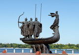 Monument to the mythical founders of Kiev on the Dnieper river.