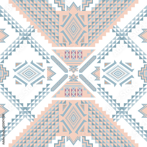 Poster Ethnic geometrical pattern, tribal seamless pattern