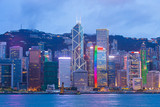 Victoria Harbour view at night in Hong Kong