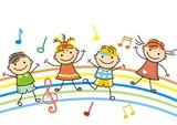 Fototapety dancing children, vector icon,