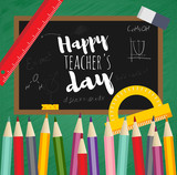 Greeting card happy teachers day