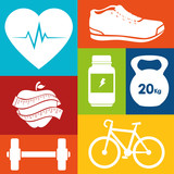 sport fitness healthy life design isolated vector illustration eps 10
