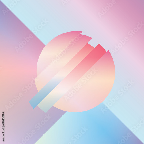 Material design abstract vector background with geometric isometric shapes.