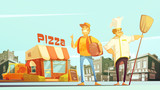 Pizza Delivery Illustration