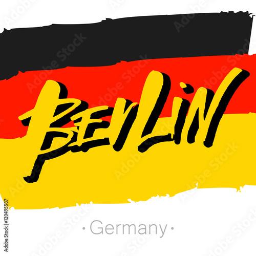 Naklejka berlin_lettering_template