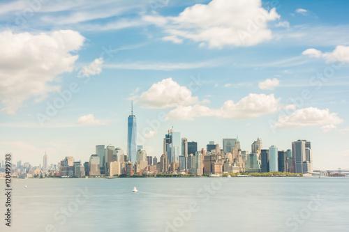 Fotobehang New York lower manhattan, new york