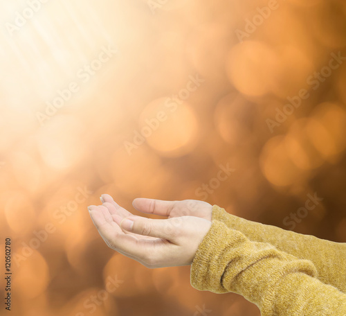 Abstract blurred brown light spot bokeh background