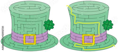 Easy green hat maze