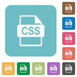 Flat CSS file format icons