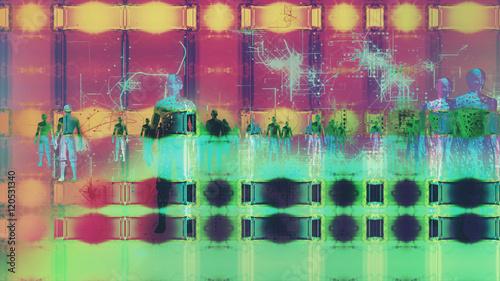High Tech Humanoids in a Digital Environment - 120531340