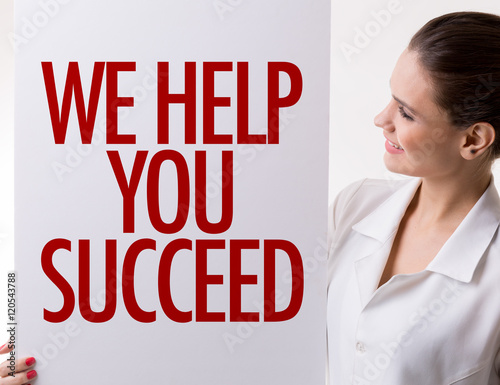 Poster We Help You Succeed