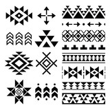 Navajo print, Aztec pattern, Tribal design elements   - 120559759