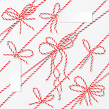 Bakers twine bows, ribbons and labels - 120566700