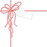 Background with bakers twine bow and ribbons - 120566787