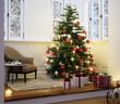 Wiehnachtsbaum in Wohnung Altbau Erker - Christmas tree in Loft