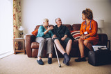 Elderly Couple with Home Carer