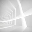 White abstract empty futuristic corridor