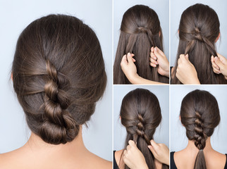 twisted hairstyle tutorial © alter_photo