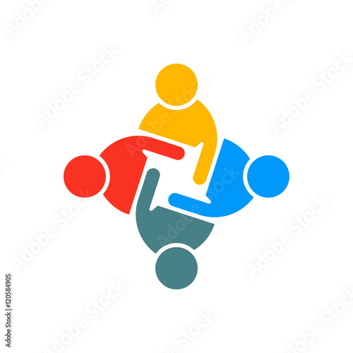 People Group Teamwork Logo. Vector graphic design illustration