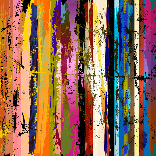 Fotobehang Abstract met Penseelstreken abstract background composition, with paint strokes, splashes an
