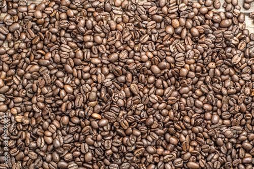 Papiers peints Café en grains Roasted coffee beans texture background