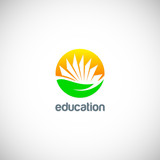 education knowledge book logo