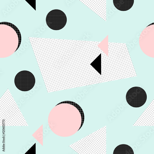Tapeta Retro Geometric Pattern
